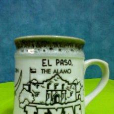 Vintage: EL PASO TEXAS TAZA CERAMICA. Lote 48117544