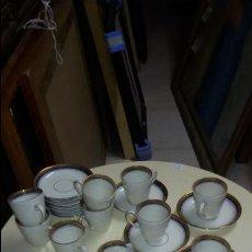 Vintage: PRECIOSO JUEGO DE CAFE - 11 TAZAS Y 11 PLATOS - CERÁMICA SCHERZER BAVARIA -GERMANY -. Lote 48155852