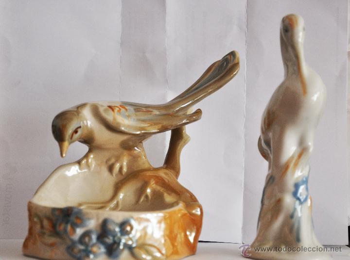 DOS FIGURAS PORCELANAS .PAJAROS .USRR .RUSIA (Vintage - Decoración - Porcelanas y Cerámicas)