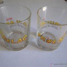 Vintage: LOTE DE 2 VASOS DE FRULAC CACAO , AÑOS 70. Lote 48305376