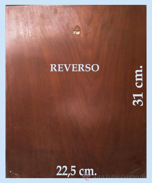 Vintage: Reverso del cuadro. y medidas. - Foto 5 - 48336928