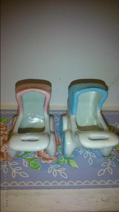 Vintage: dos cochecitos de bebe. azul y rosa - Foto 2 - 48407740