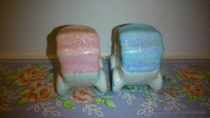 Vintage: dos cochecitos de bebe. azul y rosa - Foto 4 - 48407740