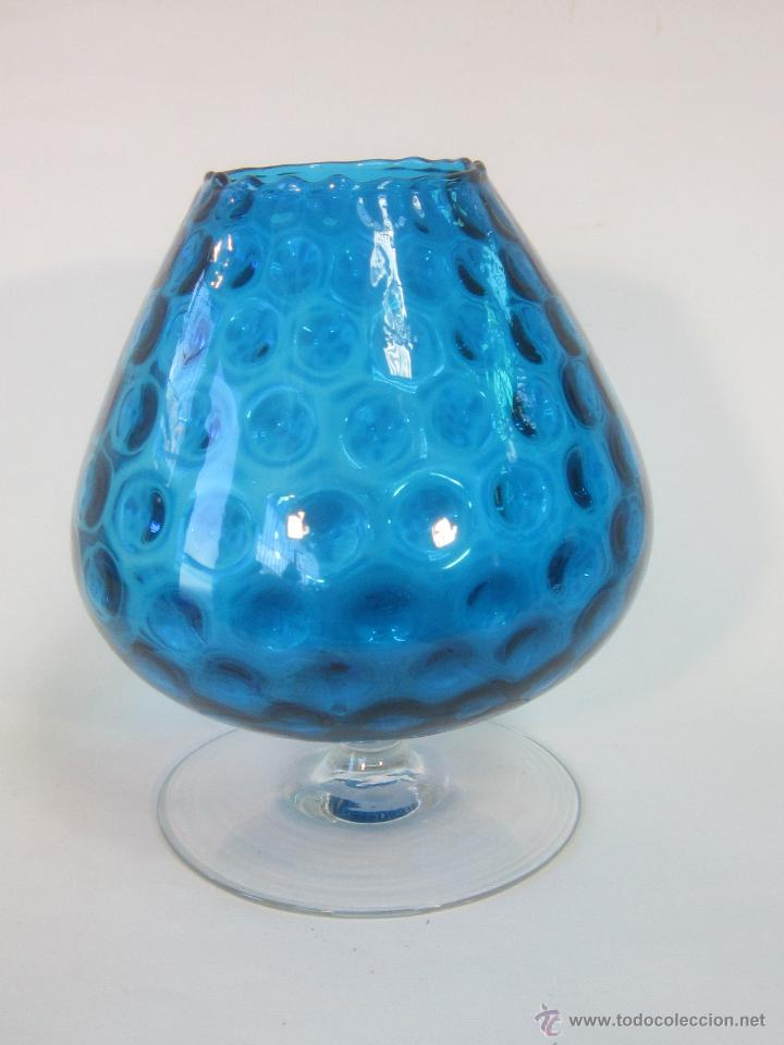 Copa Gigante En Cristal Azul