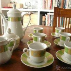 Vintage: JUEGO DE CAFÉ COMPLETO MARCA FENA PORZELLAN. Lote 48527182