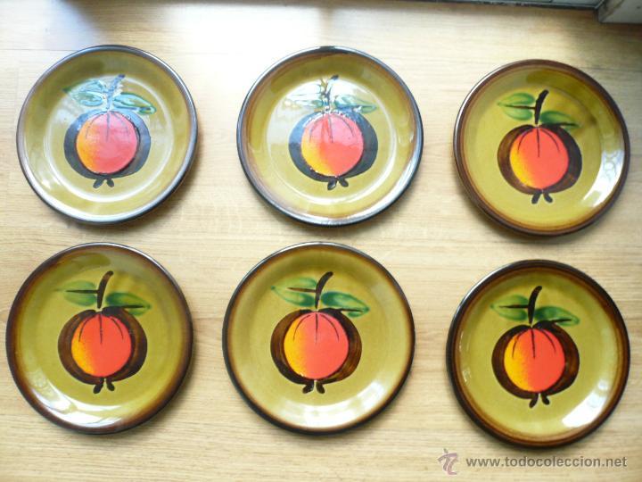 SEIS PLATOS LLANOS MARCA GALLO CALVADOS (Vintage - Decoración - Cristal y Vidrio)