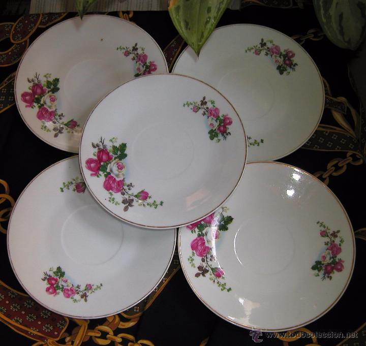 Lote de cinco platos vintage o shabby chic con comprar - Comprar decoracion vintage ...