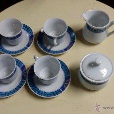 Vintage: JUEGO DE SEIS TAZAS SEIS PLATOS, LECHERA Y AZUCARERO MADE IN CHINA. Lote 48586724
