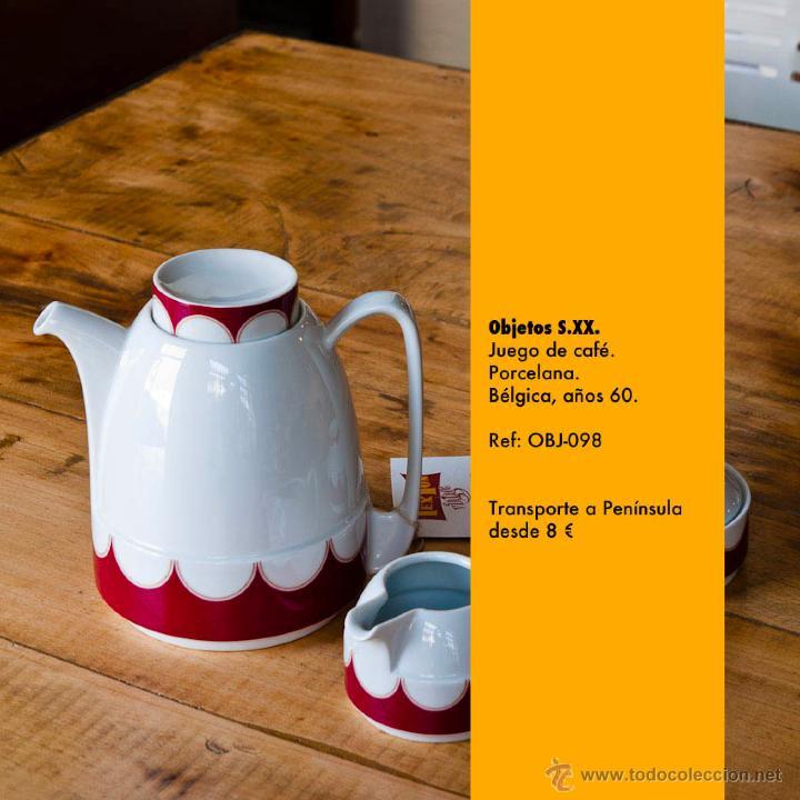 Vintage: Juego de café de porcelana, Bélgica, años 60 - Foto 2 - 48606721