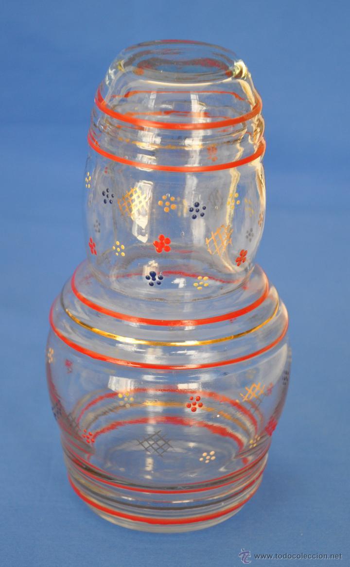 Vintage: Juego de agua de cristal soplado. - Foto 2 - 48704337
