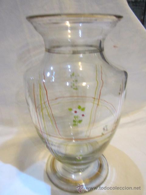 jarrn de cristal decorado a mano 235 cms a Comprar Jarrones y