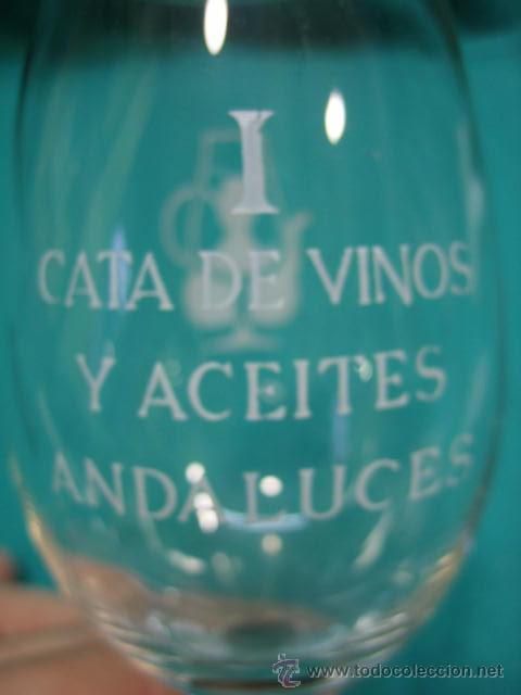 COPA DE CRISTAL. I CATA DE VINOS Y ACEITES ANDALUCES. CORDOBA (Vintage - Decoración - Cristal y Vidrio)