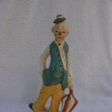 Vintage: UNA BELLA FIGURA DE BISCUIT -PAYASO TRISTE- MARAVILLOSO PAYASO TRISTE EN DELICADO BISCUIT. Lote 49164283