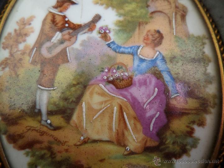 CUADRO MINIATURA PORCELANA LIMOGES (Vintage - Decoración - Porcelanas y Cerámicas)