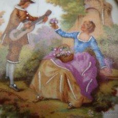 Vintage: CUADRO MINIATURA PORCELANA LIMOGES. Lote 49227039