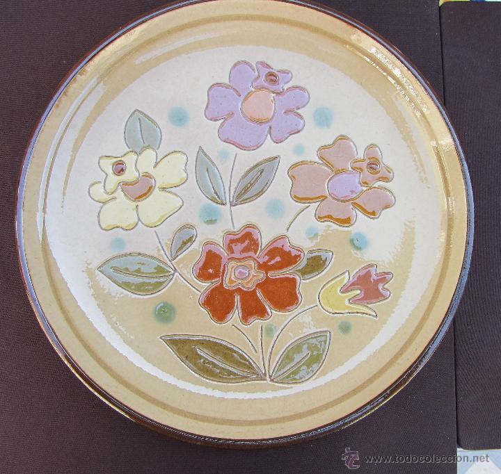 PLATO DECORATIVO VINTAGE VILA CLARA LABISBAL AÑOS 70 (Vintage - Decoración - Porcelanas y Cerámicas)