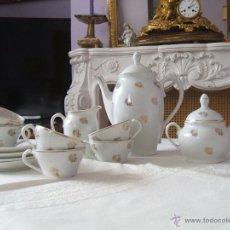 Vintage: JUEGO DE CAFE SANTA CLARA ANTIGUO. Lote 49535971