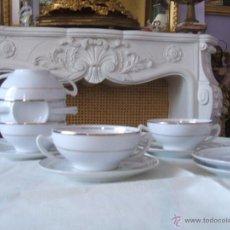 Vintage: JUEGO DE CONSOME PARA SEIS. Lote 49536312
