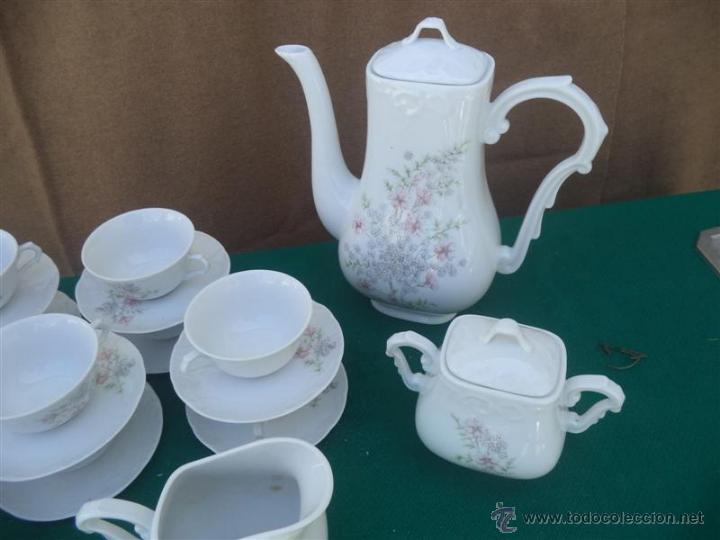 Vintage: juego de te porcelana vistaalegre - Foto 2 - 49596591