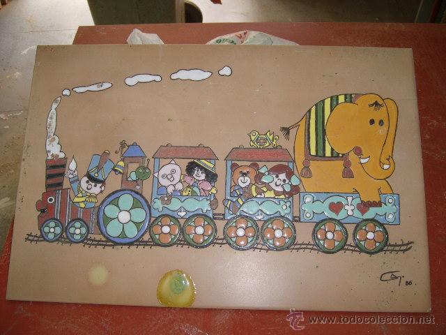 AZULEJO ESMALTADO (Vintage - Decoración - Porcelanas y Cerámicas)