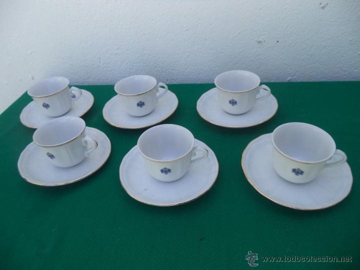 6 TAZAS Y PLATOS PORCELANA (Vintage - Decoración - Porcelanas y Cerámicas)