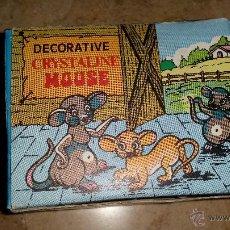 Vintage: DECORATIVE CRYSTALINE MOUSE AÑOS 70. Lote 49862033