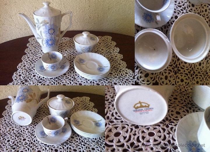 PORCELANA PONTESA JUEGO DE CAFE (Vintage - Decoración - Porcelanas y Cerámicas)