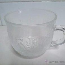 Vintage: TAZA DE CAFÉ CON LECHE. DE CRISTAL LABRADO. . Lote 50029459
