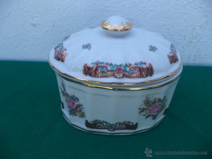 BOMBONERA PORCELANA LIMOGES (Vintage - Decoración - Porcelanas y Cerámicas)
