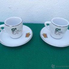Vintage: 2 TAZA Y PLATO PORCELANA. Lote 50234047