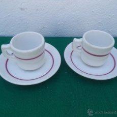 Vintage: 2 TAZAS Y PLATOS CERAMICA VISTAALEGRE. Lote 50234070
