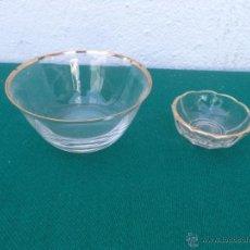 Vintage: 2 PEQUEÑOS CUENCOS CRISTAL. Lote 50235370