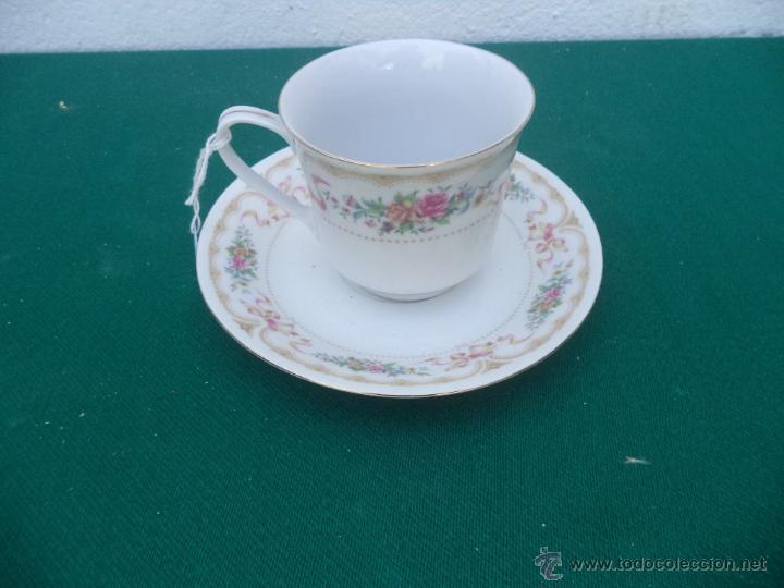 TAZA Y PLATO (Vintage - Decoración - Porcelanas y Cerámicas)