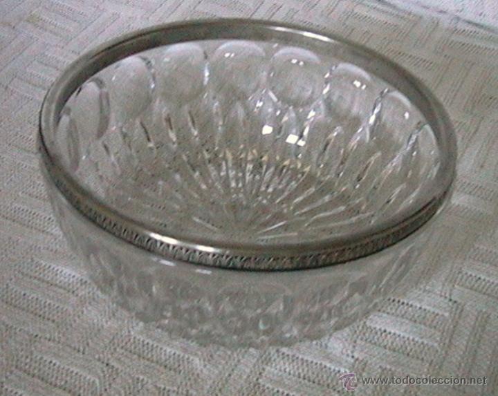 CENTRO MESA FRUTERO CRISTAL ROCA (Vintage - Decoración - Cristal y Vidrio)