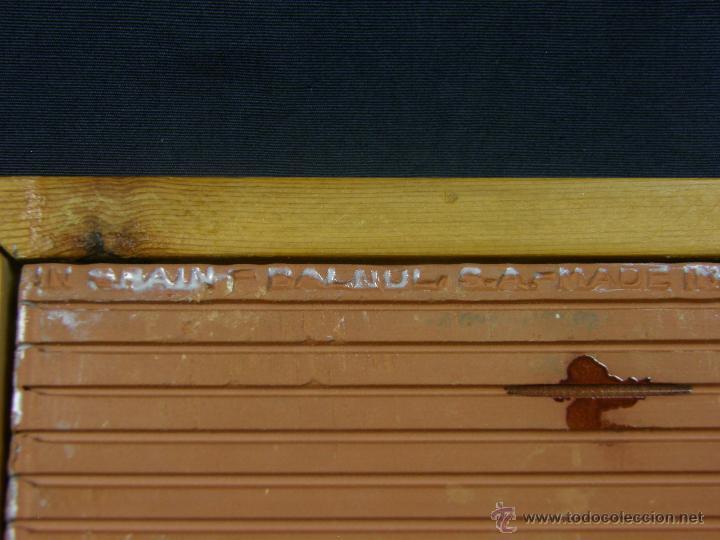 Vintage: azulejo balnul s.a. made in spain años 70 firmado M. G. niño poney madre enmarcado 23x23cms - Foto 9 - 50560978