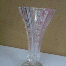 Vintage: JARRON CRISTAL TALLADO Y PLATA. Lote 50696585