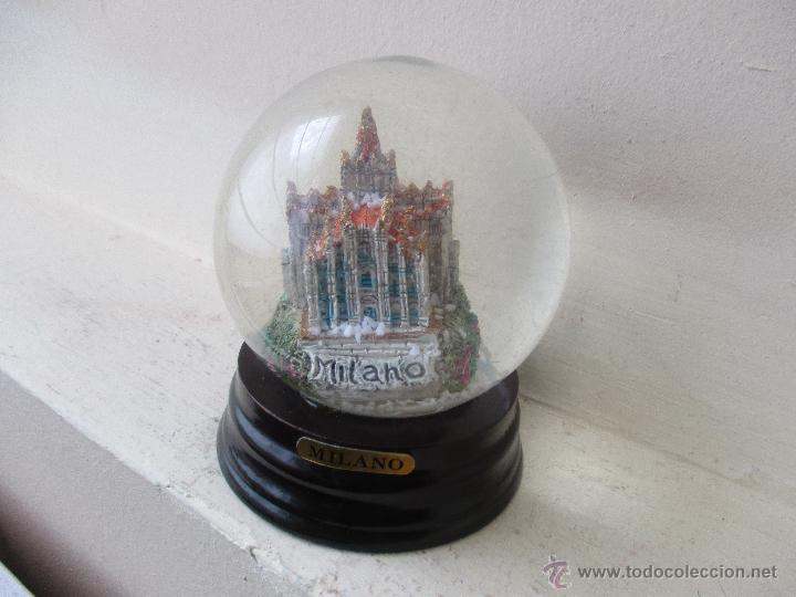 Antigua bola de nieve de cristal y madera de mi comprar - Bola nieve cristal ...