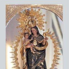 Vintage: AZULEJO 20X30 DE LA VIRGEN DE LA CINTA CORONADA (PATRONA DE HUELVA). Lote 50978075