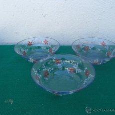 Vintage: 3 CUENCOS DE CRISTAL. Lote 51007050