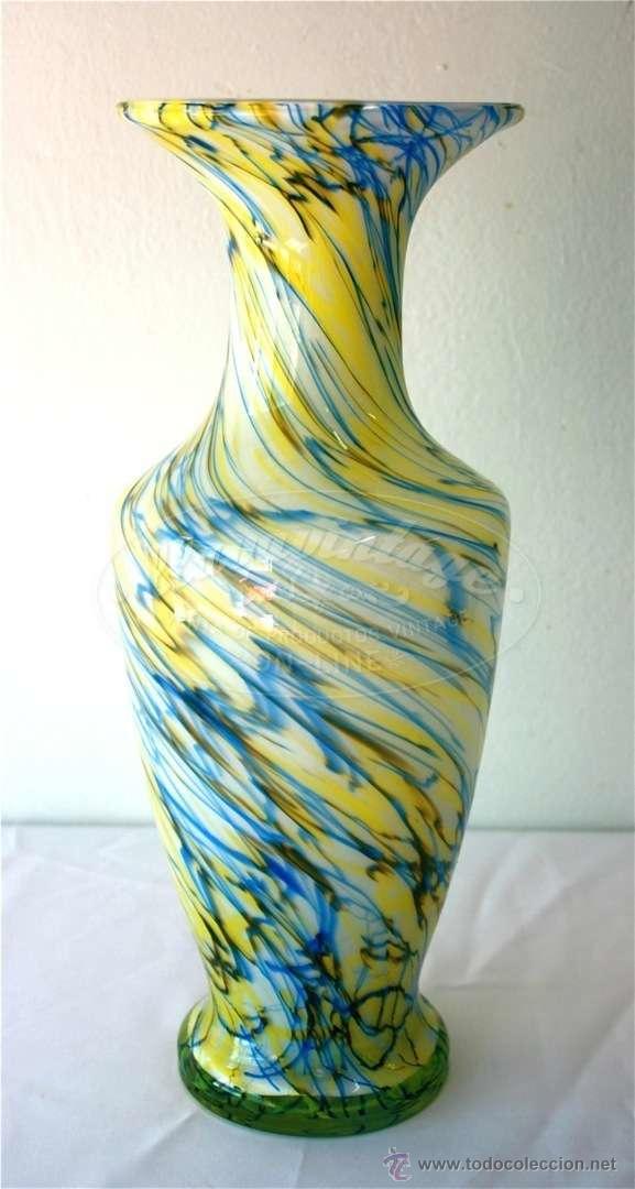 jarrn vintage cristal de murano multicolor