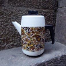 Vintage: CAFETERA VINTAGE DE METAL ESMALTADO. Lote 51102646
