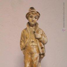 Vintage: FIGURA VIOLINISTA, EN ESCAYOLA. Lote 51177151