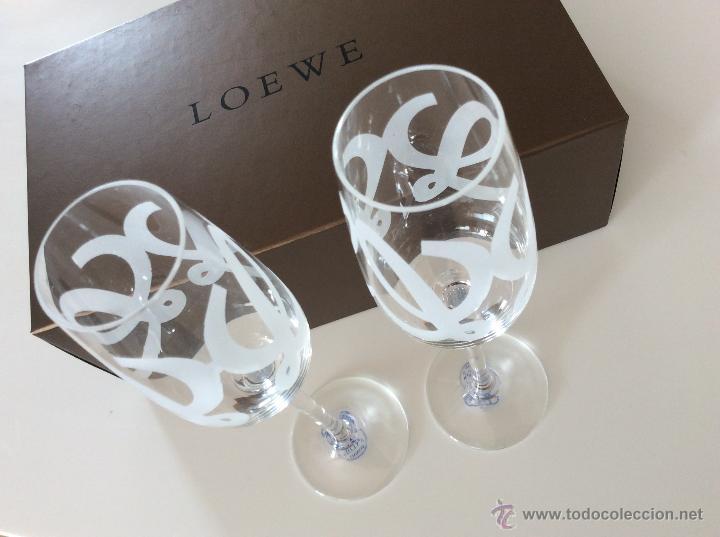 Vintage: Envío 12€. Dos copas talladas a mano, especial edición para coleccionistas de la casa de moda LOEWE - Foto 3 - 51186122