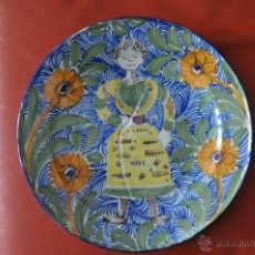 Vintage: PLATO DE PORCELANA ESCANDINAVO , PINTADO A MANO , VINTAGE , POSIBLE SUECO. Lote 51336455