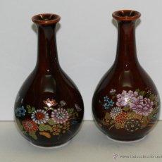 Vintage: 2 PEQUEÑOS JARRONES DE PORCELANA JAPONESA. Lote 51408014