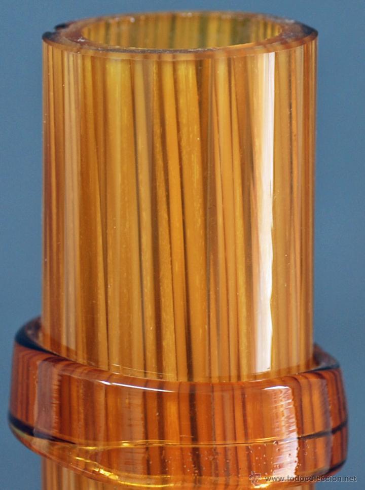Vintage: Centro botella cristal soplado color ámbar vintage años 50 - 60 - Foto 4 - 51419450