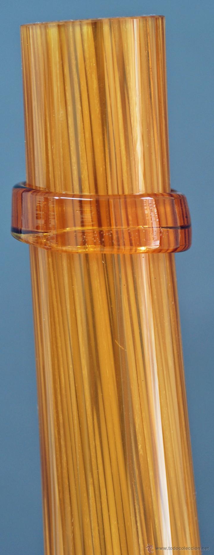 Vintage: Centro botella cristal soplado color ámbar vintage años 50 - 60 - Foto 5 - 51419450