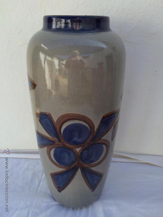 jarron grande de ceramica esmaltada de los aos u numerado y sellado bay