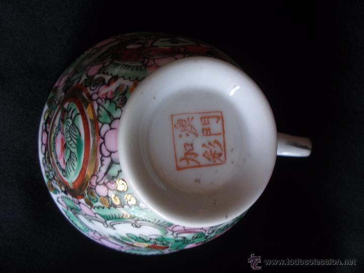 Vintage: TAZA CHINA PINTADA A MANO SELLADA CON TAMPON EN LA BASE - Foto 3 - 51534967