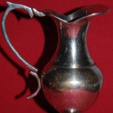 Vintage: JARRON DE METAL SOBRE PLATEADO.INDIA. Lote 51888417
